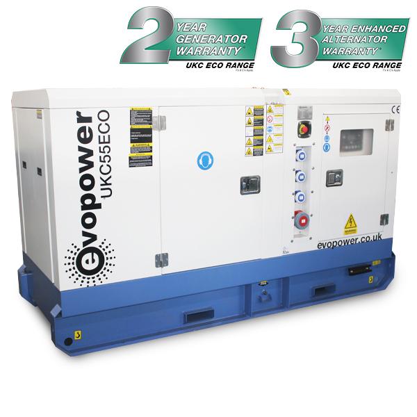 55kVA diesel generator Cummins powered