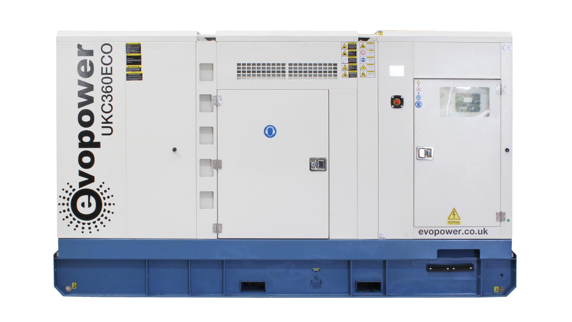 UKC360ECO Cummins Powered Generator Front Image Flat On