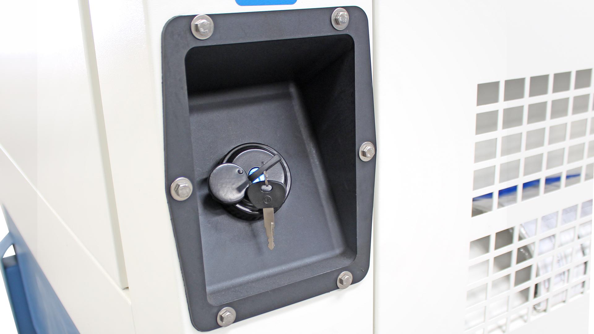 External Fuel Filler Cap on Evopower Cummins Diesel Generator