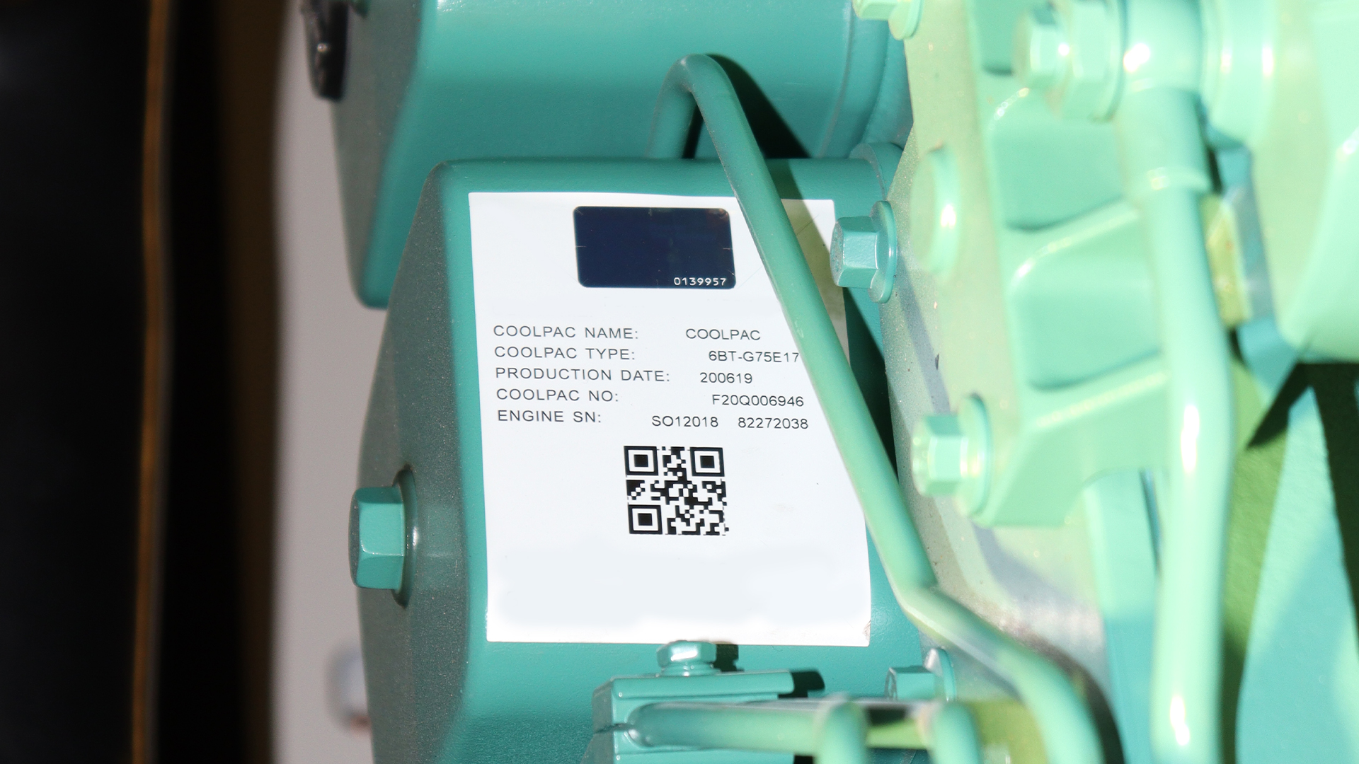 Label for the 6BT-G75E17 Coolpac