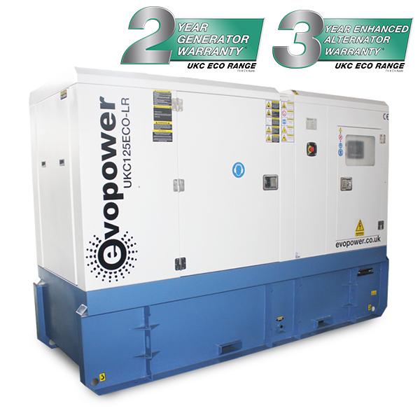UKC125ECO-LR long run 125kVA diesel generator with long run tank