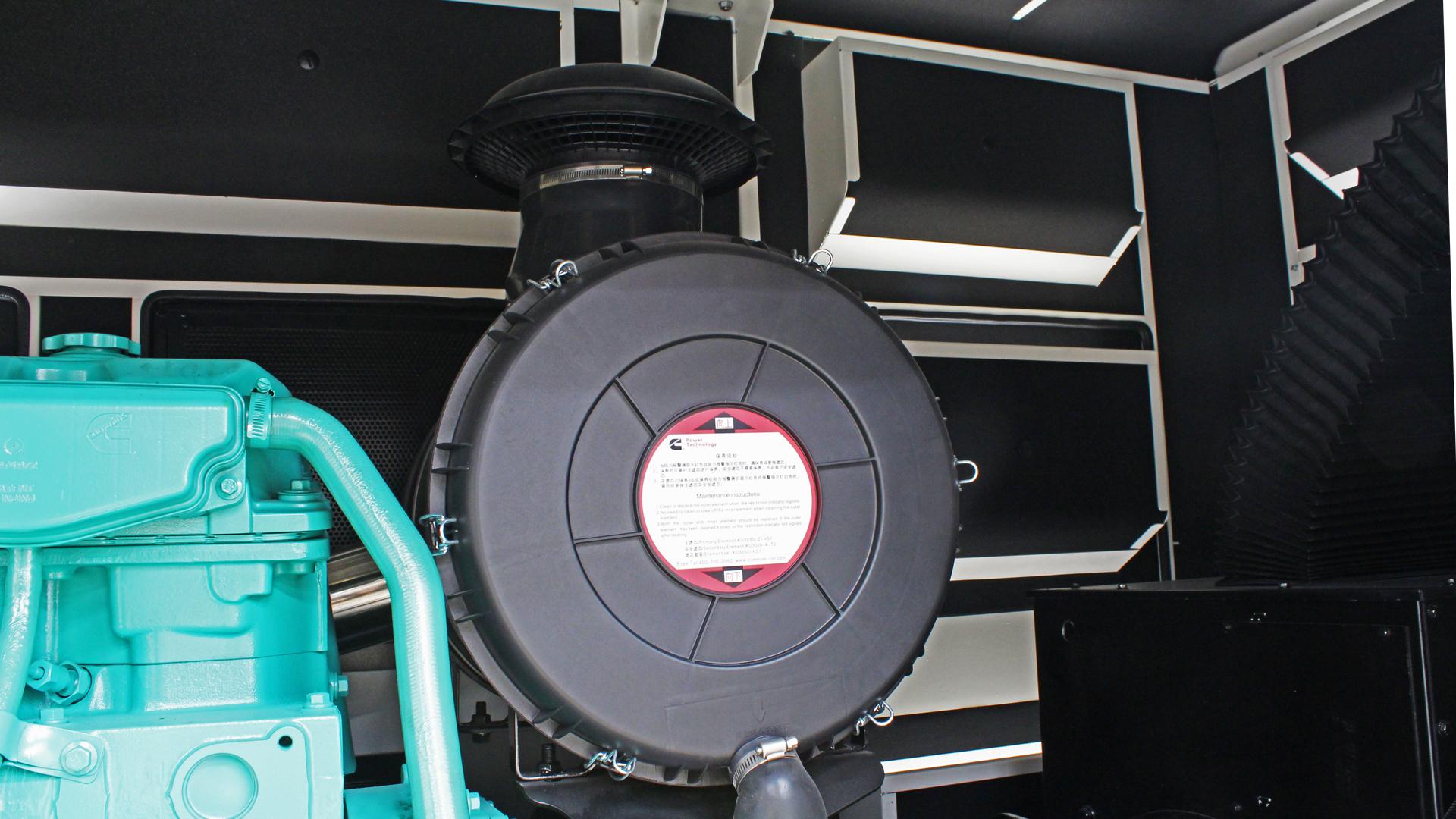 Turbocharger on UKC440ECO and 480kVA and 500kVA gensets in Evopower ECO range