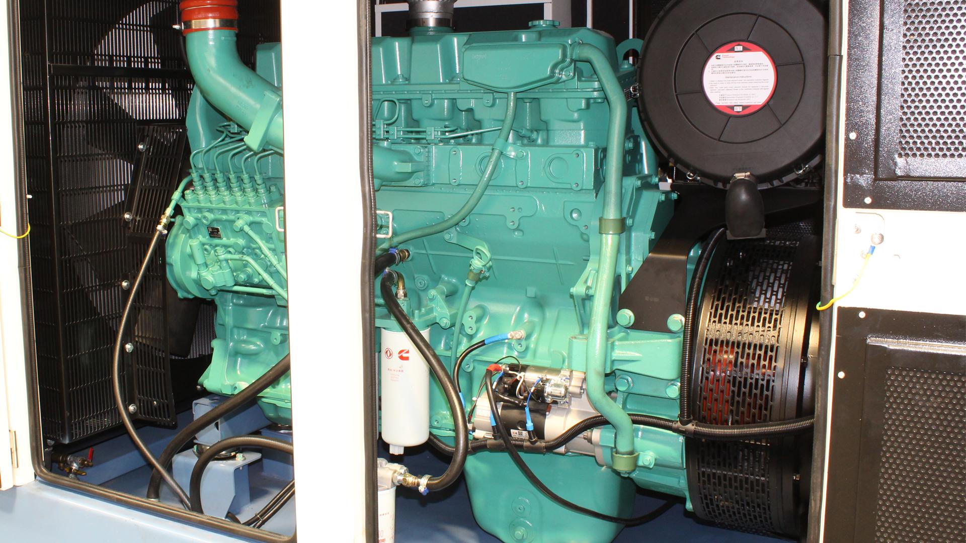 View of Cummins genset engine 6ZTAA13
