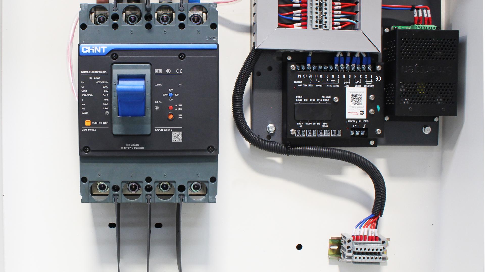 CHiNT breakers used on Evopower Cummins powered generators