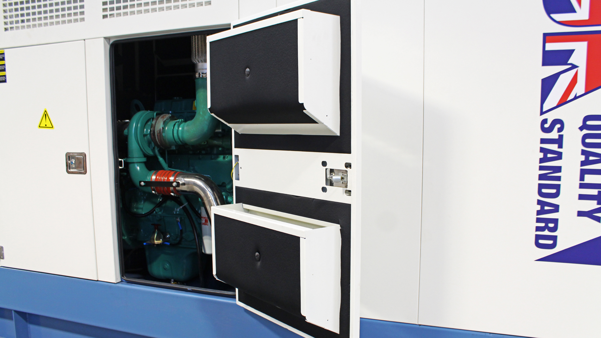 Industrial Grade Canopies on Evopower ECO range of gensets