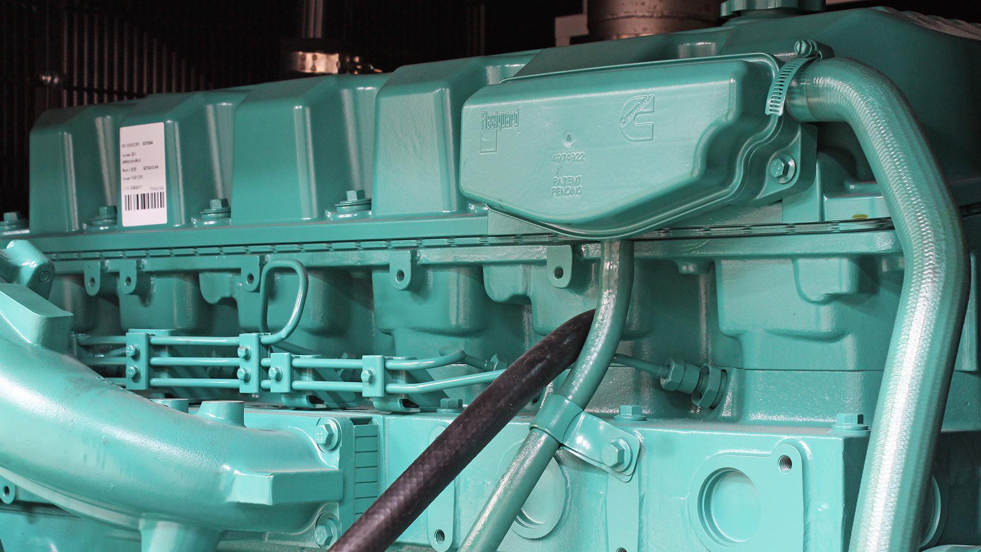 13 Litre 6 Cylinder engine Cummins 6ZTAA13 in 500kVA Evopower gen set
