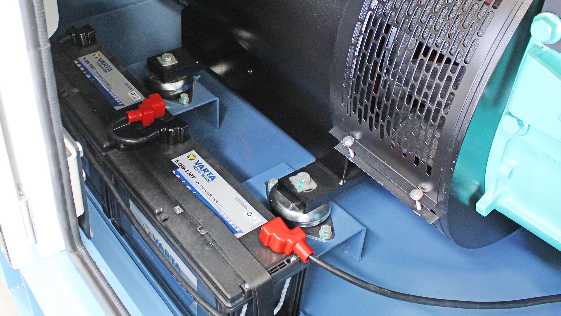 Varta batteries within UKC500ECO diesel generator