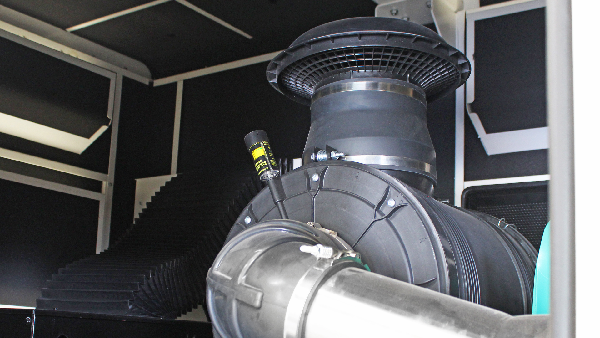 Turbocharger on 13 Litre Cummins 6ZTAA13 500kVA Genset engine