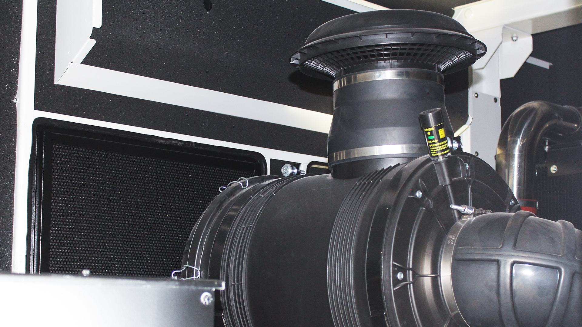 Turbo Charger pressure gauge on Cummins genset engine