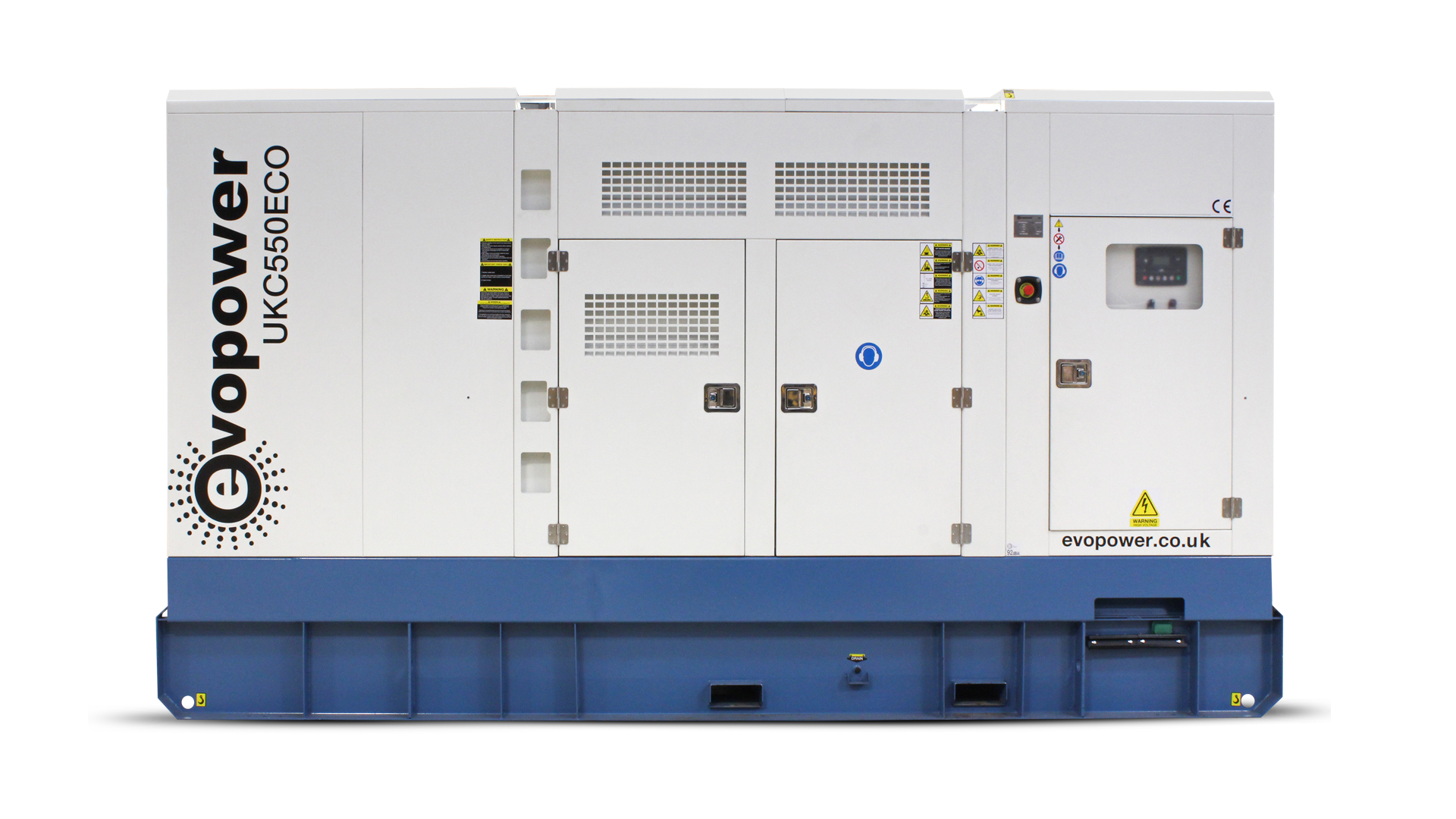 UKC550ECO 550kVA diesel generator external front view