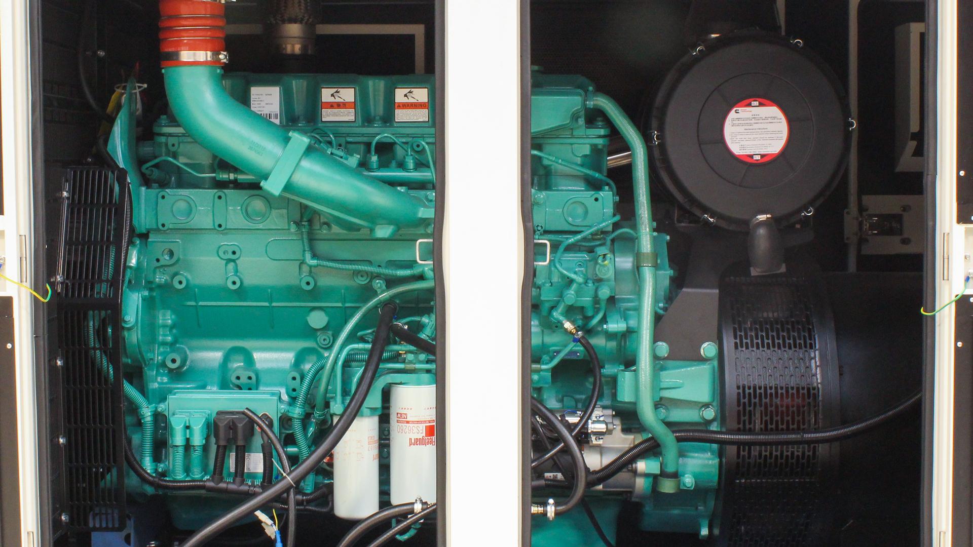 UKC550ECO 550kVA Cummins Genset with Engine showing
