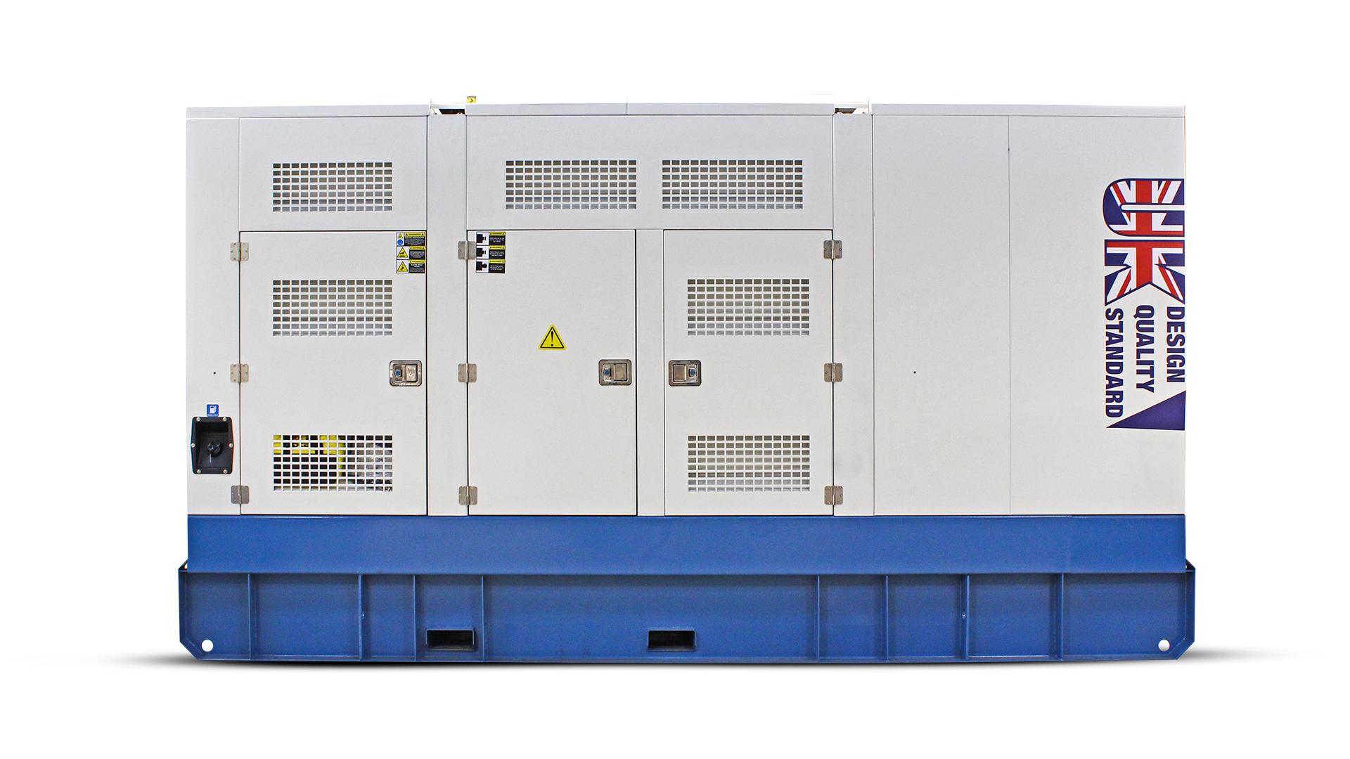 Rear view of the UKC550ECO 550kVA generator canopy