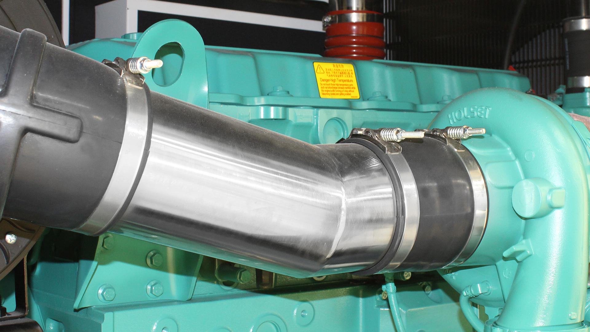 Turbocharger on 550kVA diesel generator set powered by Cummins