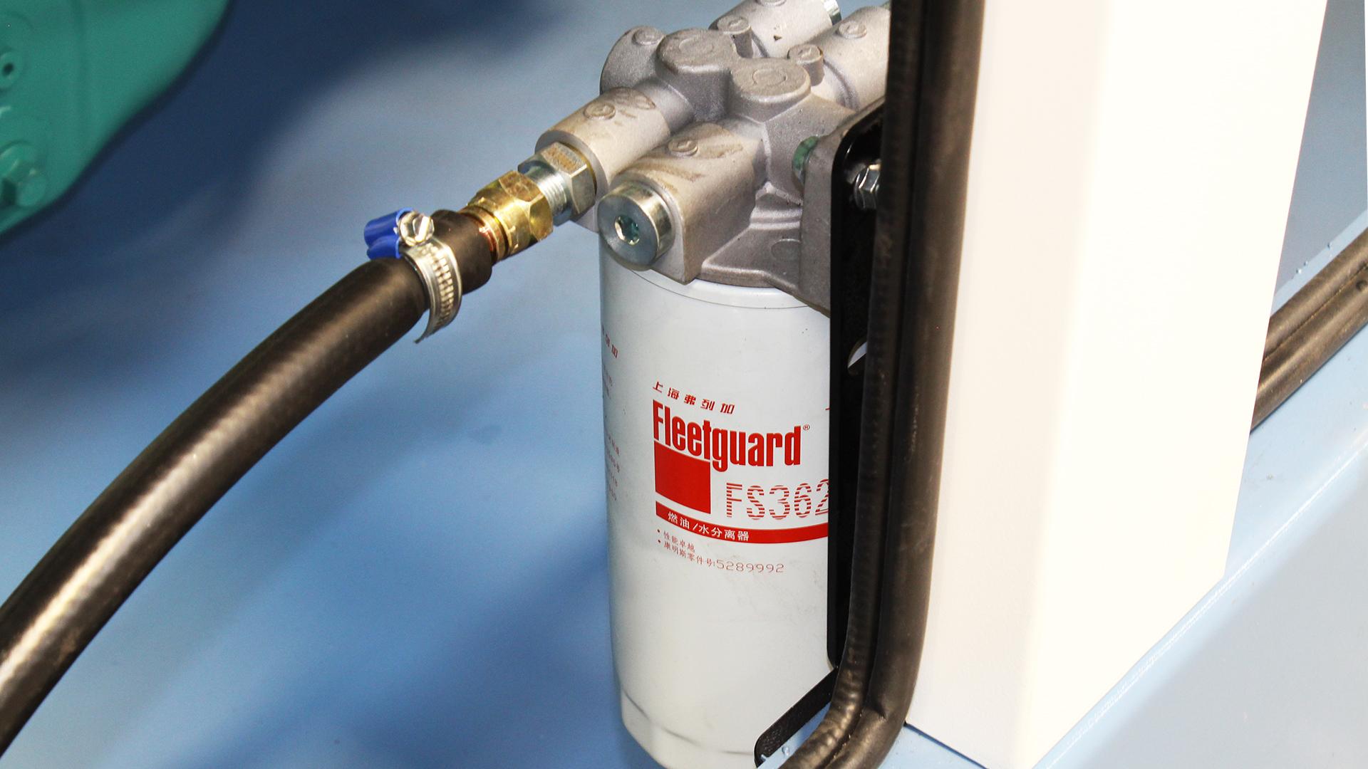 External Fuel Separator Filter on Cummins Generator