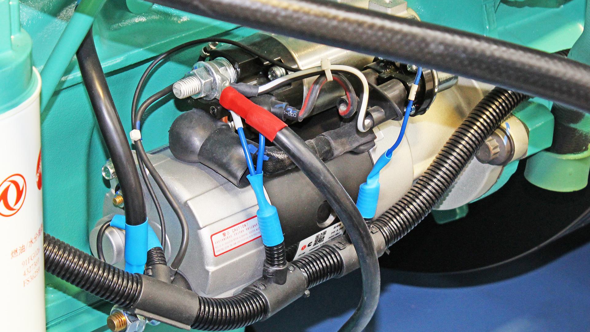 Starter Motor on Cummins Diesel Genset Engine
