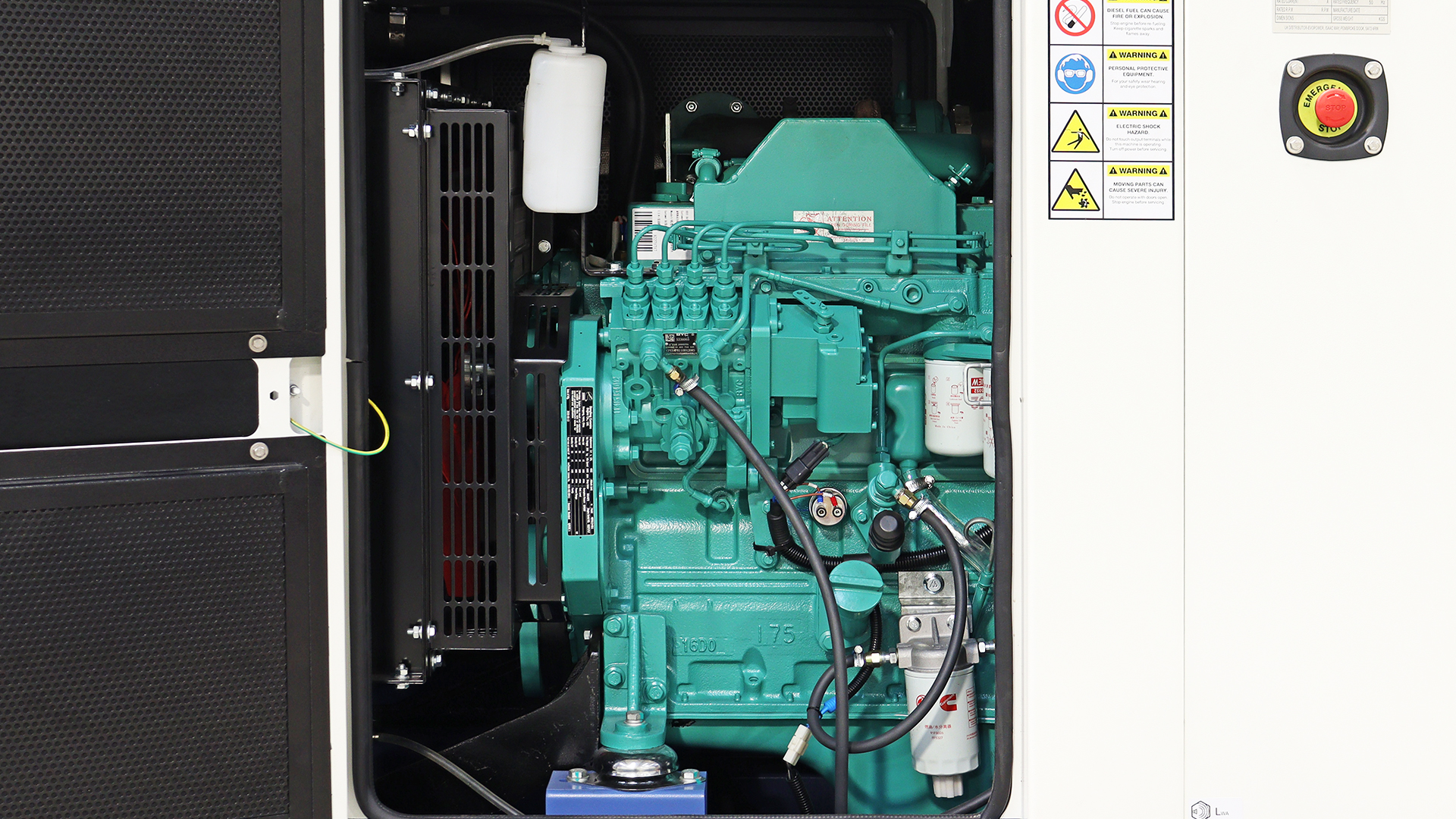 Cummins powered generator showing the 3.9L engine