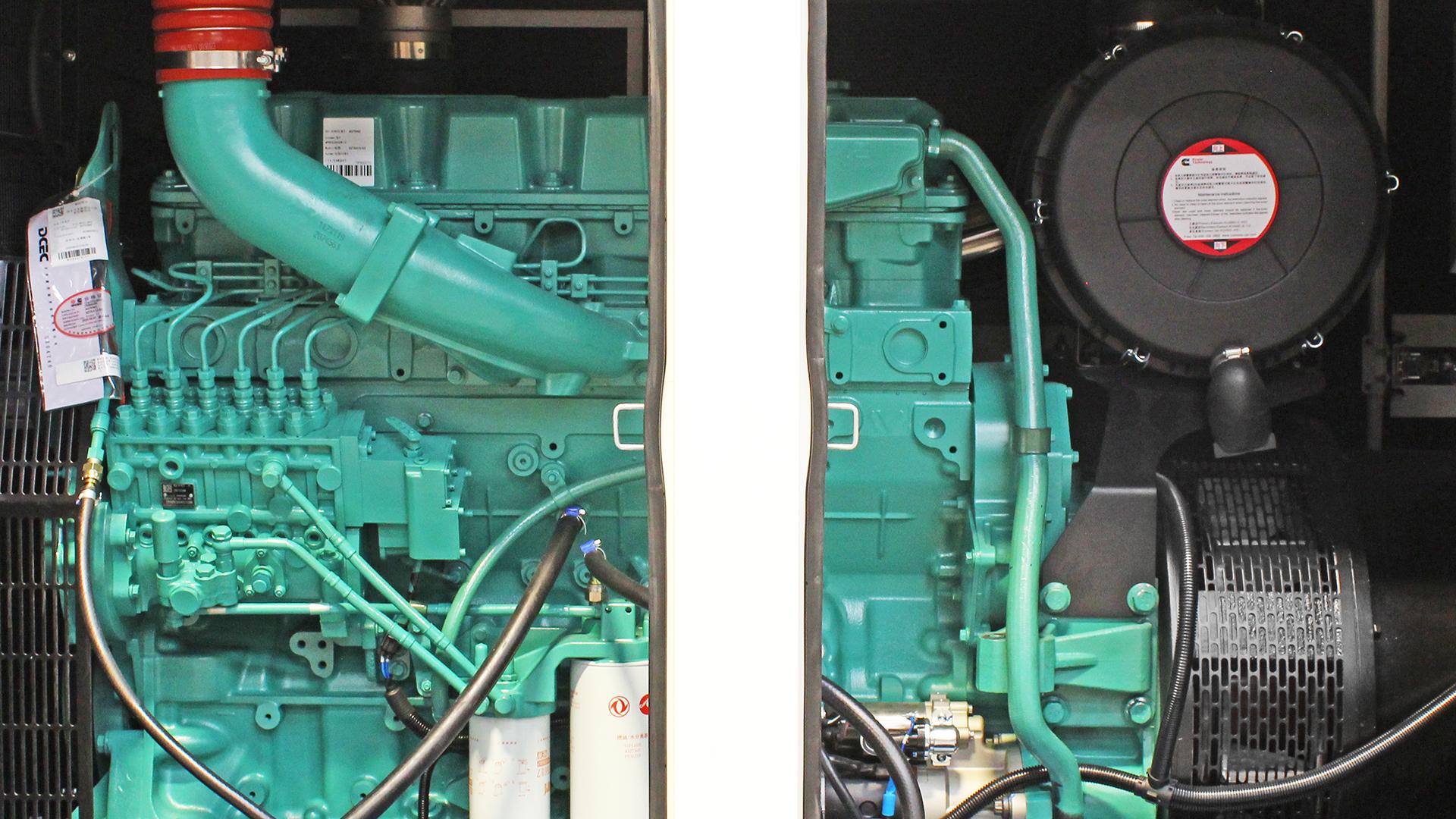 Canopy doors open on UKC480ECO generator