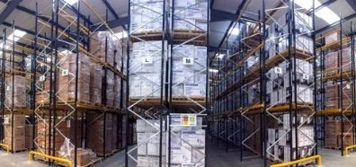 Large Racking Spaces within Evopower Generator Warehouse